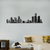 Detroit Skyline Cut-Out 25x79