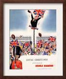 Double Diamond Coronation Union Jack Flags  UK  1953