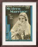 Modern Marriage  Weddings Marriages Brides First Issue Magazine  UK  1931