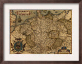 1570 Map of German States  from Abraham Ortelius  Theatrvm Orbis Terrarvm