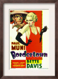 Bordertown  Paul Muni  Bette Davis on Midget Window Card  1935