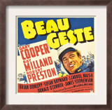 Beau Geste  Gary Cooper on Jumbo Window Card  1939