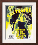 Cat People  Simone Simon on Window Card  1942