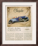 Chrysler  Magazine Advertisement  USA  1928