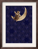 Victorian Child on Crescent Moon