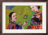Asian Women Sharing a Flower