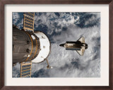 Space Shuttle Atlantis After It Undocked from the International Space Station on June 19  2007