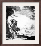 Edward Low  English Pirate Shown on Shore Watching a Ship Foundering in a Hurricane  1720