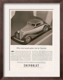 Chevrolet  Magazine Advertisement  USA  1933