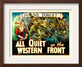 All Quiet on the Western Front  Poster Art  1930