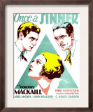 Once a Sinner  Joel Mccrea  Dorothy Mackaill  John Halliday on Window Card  1931