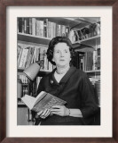 Rachel Carson  Biologist and Writer  Holding Her Ground Breaking Book  the Silent Spring  1963