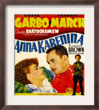 Anna Karenina  Greta Garbo  Fredric March  Freddie Bartholomew on Window Card  1935