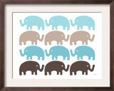 Brown Elephant Family