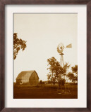 Country Days - Sepia Windmill and Barn