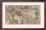 1507 World Map Incorporating Columbus' Discovery of New Lands  Using the Name  America
