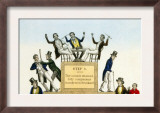 The Drunkard's Progress Hand-Colored Lithograph  1846