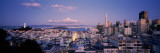 High Angle View of a Cityscape From Nob Hill  San Francisco  California