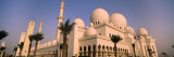 Low Angle View of a Mosque  Sheikh Zayed Mosque  Abu Dhabi  United Arab Emirates