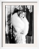 Pola Negri Wearing a White Knee-Length Fur Llate  Late 1920s