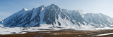 Snow Covered Mountains  Bellsund  Spitsbergen  Svalbard Islands  Norway