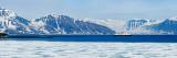 Ship in a Fjord  Bellsund Fjord  Spitsbergen  Svalbard Islands  Norway