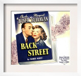 Back Street  Charles Boyer  Margaret Sullavan on Jumbo Window Card  1941