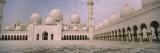 Empty Courtyard of a Mosque  Sheikh Zayed Mosque  Abu Dhabi  United Arab Emirates