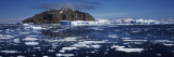 Icebergs Floating On Water  Antarctica