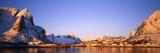 Mountains Along a Sea Side  Reine  Lofoten  Nordland County  Norway