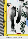Against Apartheid Reproduction pour collectionneurs par Roy Lichtenstein