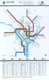 Washington DC Subway System Map