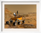 Mars Science Laboratory Travels Near a Canyon on Mars