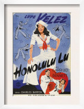 Honolulu Lu  Lupe Velez on Swedish Poster Art  1941