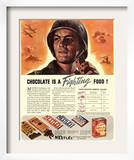 Nestle's  Propaganda Chocolate Sweets WWII Chocolate Is a Fighting Food  USA  1940