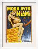 Moon over Miami  Betty Grable on Window Card  1941