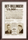 Wanted Poster for John Dillinger  Offering $15 000 for His Capture 1934
