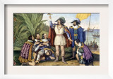 The Landing of Columbus  October 11  1492  Painting by