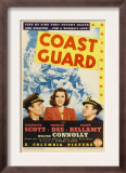 Coast Guard  Randolph Scott  Frances Dee  Ralph Bellamy on Midget Window Card  1939