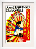 Dancing Lady  Clark Gable  Joan Crawford on Midget Window Card  1933