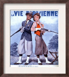 La Vie Parisienne  Couples Shooting Guns Hunting Magazine  France  1936