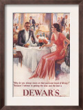 Dewar's  Whiskey Alcohol Dinners  UK  1930