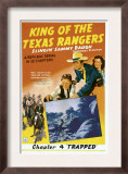 King of Texas Rangers  Top from Center: Sammy Baugh  Pauline Moore in 'Chapter 4: Trapped'  1941