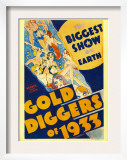 Gold Diggers of 1933  Window Card  1933