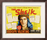 The Sheik  (Re-Issue 1938 Half-Sheet Poster)  Rudolph Valentino  1921