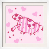 Pink Striped Elephant