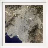 True-Color Satellite View of Central Athens  Greece