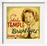 Bright Eyes  Shirley Temple on Jumbo Window Card  1934