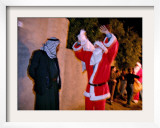 Member of Iraqi Volunteer Group as He Delivers Presents to an Iraqi Man on Christmas Eve