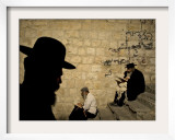 Ultra Orthodox Jewish Men Pray at Joseph's Tomb in the West Bank City of Nablus